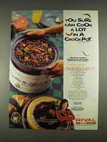 1996 Rival Crock-Pot Ad - Denise's Creole Black Beans