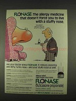 1996 Glaxo Wellcome Flonase Ad - Stuffy Nose