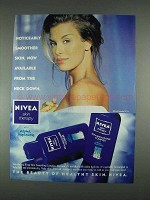 1996 Nivea Skin Therapy Ad - Noticeably Smoother