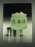 1996 Clinique Moisture On-Call Ad