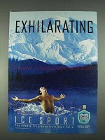 1996 Aqua Velva Ice Sport After Shave Ad - Exhilarating