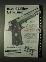 1996 Para-Ordnance P16-40 Pistol Ad - To The Limit