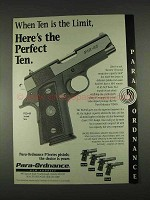 1996 Para-Ordnance P12-45 Pistol Ad - Perfect Ten