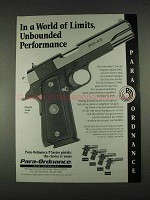 1996 Para-Ordnance P14-45 Pistol Ad - World of Limits