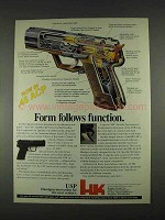 1996 Heckler & Koch USP Pistol Ad - Form Function
