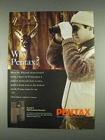 1996 Pentax 8x42 DCF High Resolution Binoculars Ad