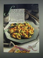 1996 Weight Watchers International Selections Dinner Ad