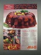 1996 Jell-O Cranberry Gelatin Ad - Cranberry Fruit Mold