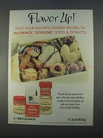1996 McCormick / Schiling Spices Ad - Flavor Up!