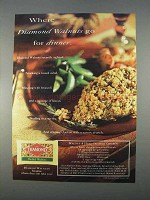 1996 Diamond Shelled Walnuts Ad - Go For Dinner