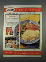 1996 Minute Rice Ad - Cheesy Rice
