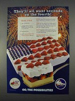 1996 Cool Whip Whipped Topping Ad - Flag Cake