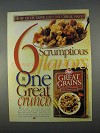 1996 Post Great Grains Cereal Ad - How Much Taste