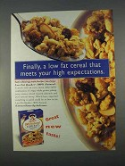 1996 Quaker 100% Natural Low Fat Granola Cereal Ad