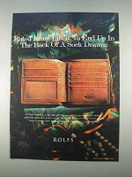 1996 Rolfs Wallet Ad -Least Likely Back of Sock Drawer