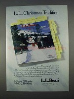 1996 L.L. Bean Ad - Christmas Tradition