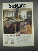 1996 SieMatic Cabinets Ad - Design & Lifestyle