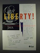 1996 Sun Microsystems Java Ad - Liberty