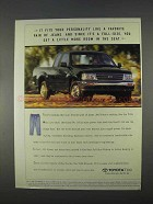 1996 Toyota T100 Xtracab Pickup Truck Ad - Personality
