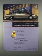 1996 Oldsmobile Aurora Car Ad - Most Washable