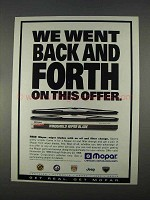 1996 Mopar Wiper Blades Ad - Went Back And Forth
