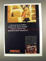 1996 Pentax IQZoom 160 Camera Ad - Curly Scalawag