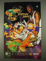 1996 Acclaim Space Jam Video Game Ad - Michael Jordan