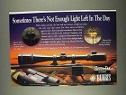 1996 Burris Electro-Dot Scope Ad - Not Enough Light