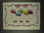1996 M&M's Candy Ad - Almonds Get Dressed up Easter