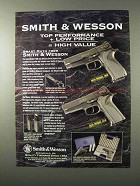 1995 Smith & Wesson Model 909 and 910 Pistols Ad