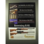 1995 Browning BAR Mark II Safari Rifle Ad - Reliability