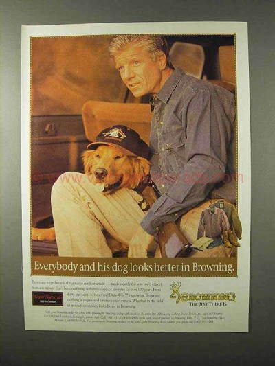 1995 Browning Clothing Ad - Everybody And His Dog