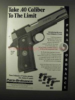 1995 Para-Ordnance P16-40 Pistol Ad - Take to the Limit