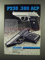 1995 Sigarms Sig Sauer P230 .380 ACP Pistol Ad