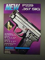 1995 Sigarms Sig Sauer P229 .357 Sig Pistol Ad