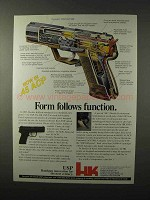 1995 Heckler & Koch USP Pistol Ad - Form Function