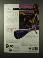 1995 Burris Scopes Ad - It's Time For a Change