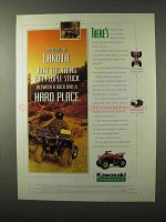 1995 Kawasaki Lakota 300 ATV Ad - Hard Place