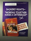 1995 Doral Cigarettes Ad - Smokers Rights