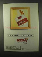 1995 Basic Cigarettes Ad - Your Basic Work of Art