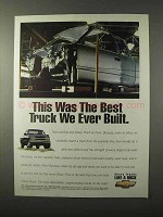 1995 Chevy Truck Ad - The Best We Ever Built