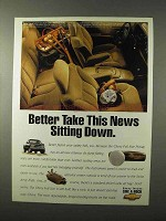 1995 Chevy Pickup Truck Ad - Take News Sitting Down
