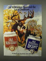 1995 Old Milwaukee Beer Ad - The Great Outdoors