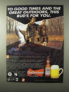 1995 Budweiser Beer Ad - Good Times Great Outdoors