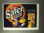 1995 Cricket Cigarette Lighter Ad - The Safer Lighter
