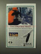 1995 Buck Knives Ad - The Edge You Need