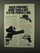 1995 Tasco ProPoint Scope Ad - It's the Perfect Line