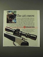 1995 Simmons Gold Medal Handgun Scopes Ad - Meow