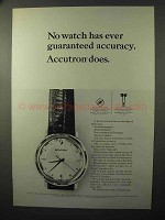 1964 Bulova Accutron Model 214 Watch Ad - Accuracy