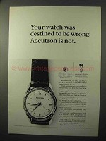 1964 Bulova Accutron Model 602 Watch Ad - Destined